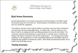 Home Energy Audit Report